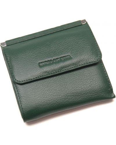 Кожаный кошелек - зеленый Marco Coverna