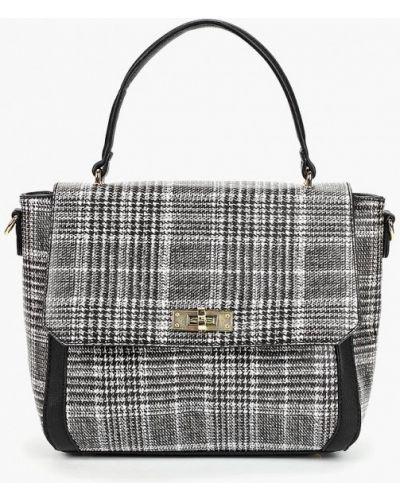 Кожаный сумка с ручками серый Fabretti