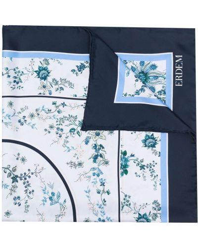 Niebieski szalik z jedwabiu Erdem