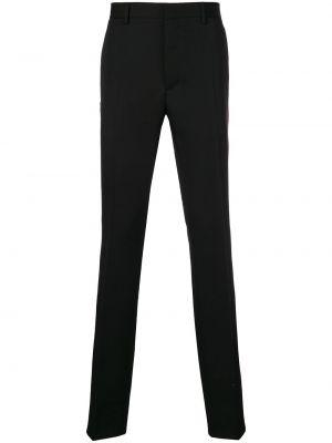 Czarne spodnie z wysokim stanem bawełniane Calvin Klein 205w39nyc