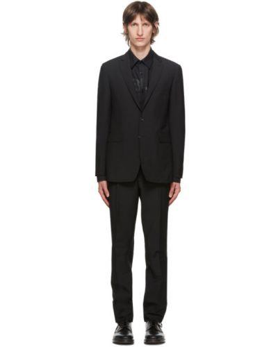 Шерстяной брючный черный брючный костюм Burberry