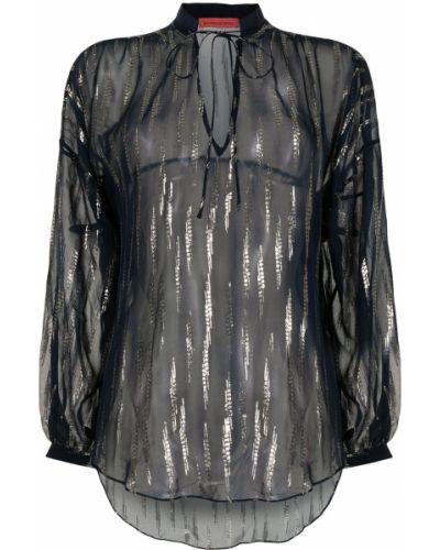 Шелковая блузка с завязками с V-образным вырезом Manning Cartell