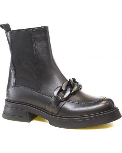 Ботильоны на каблуке - черные Guero