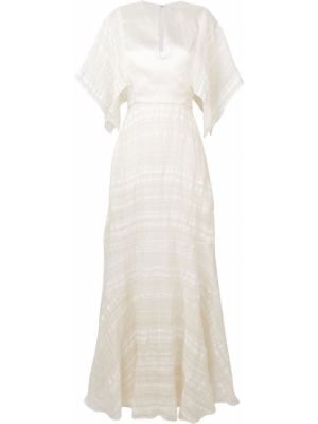 Белое шелковое платье мини на молнии с короткими рукавами Noon By Noor