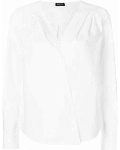 Блузка с V-образным вырезом белая Jil Sander Navy