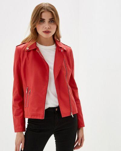 Кожаная куртка - красная Nice & Chic