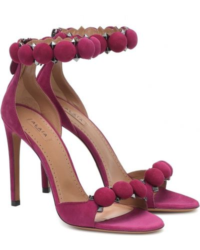 Розовые кожаные сандалии Alaã¯a