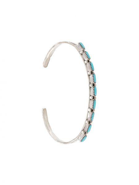 Открытый серебряный браслет металлический с открытой спиной Jessie Western
