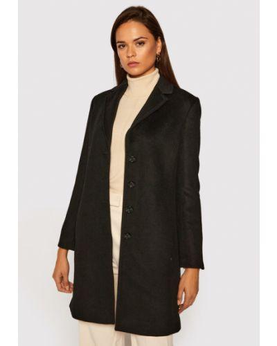 Czarny płaszcz wełniany Pennyblack