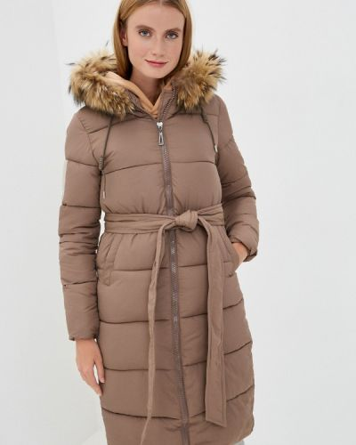 Коричневая теплая куртка Mallanee