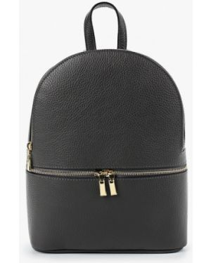 Кожаный рюкзак - серый Pulicati