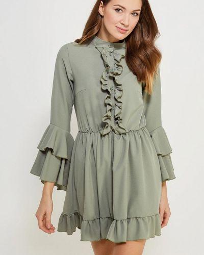 Платье осеннее зеленый Chic