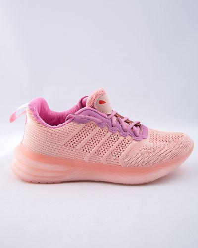 Текстильные розовые кроссовки Saijun
