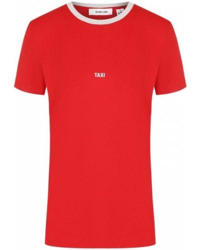 Красная футболка хлопковая Helmut Lang