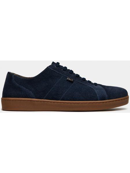 Синие текстильные кеды на шнуровке Ralf Ringer