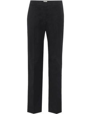 Черные прямые классические брюки с воротником с карманами Tod's