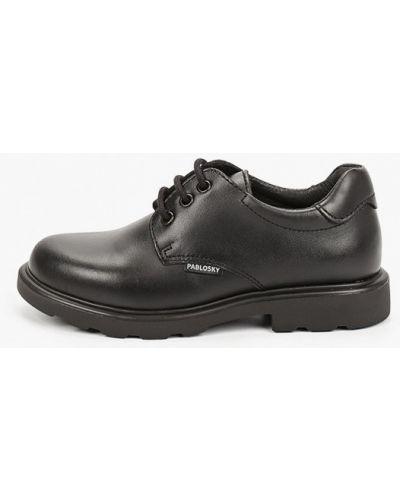Черные кожаные туфли Pablosky