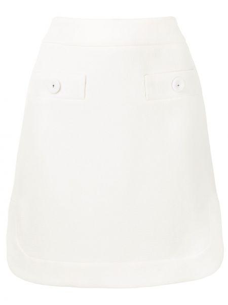 Шерстяная юбка миди - белая Paule Ka