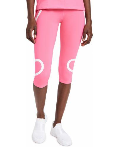 Różowe rajstopy z printem Adidas By Stella Mccartney