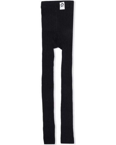 Czarne spodnie prążkowane Mini Rodini