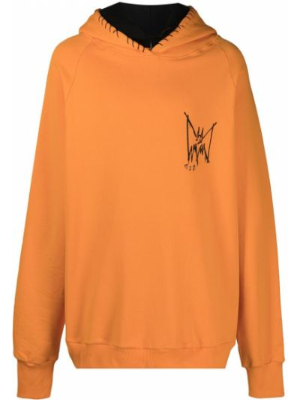 Pomarańczowa bluza długa z kapturem z długimi rękawami Mjb Marc Jacques Burton
