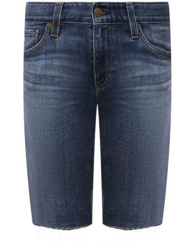 Хлопковые синие джинсовые шорты Ag