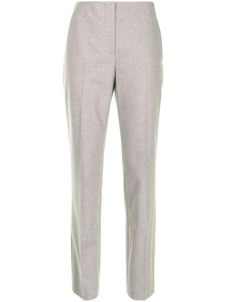 Зауженные шерстяные серые брюки Ralph Lauren Collection