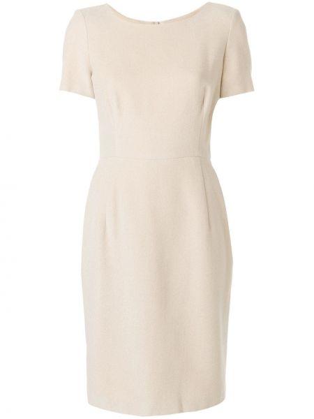 Прямое приталенное платье миди винтажное с вырезом Jil Sander Pre-owned