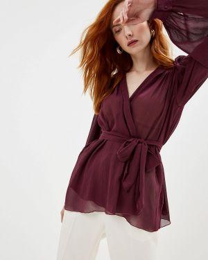 Блузка с длинным рукавом бордовый красная Forte Forte
