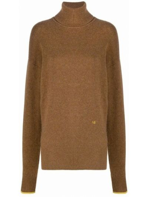 Z kaszmiru sweter - brązowy Victoria Beckham