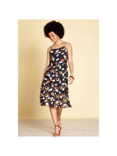 Платье мини на бретелях с цветочным принтом Yumi