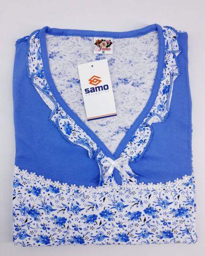 Хлопковая ночнушка - белая Samo