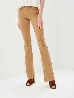 Бежевые брюки расклешенные Colcci