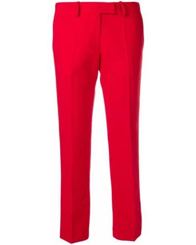 Красные укороченные брюки с поясом Roqa