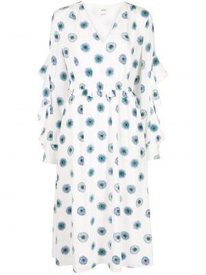 Шелковое платье миди - белое Jason Wu