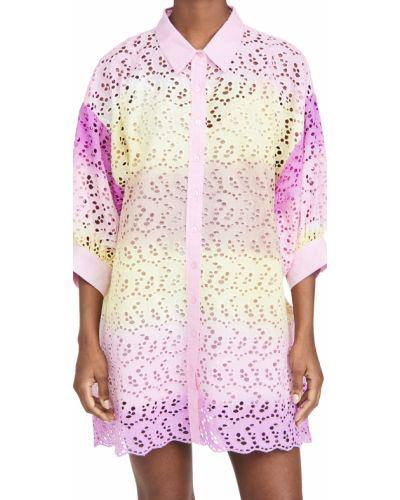 Платье с поясом с декольте на бретелях Sundress