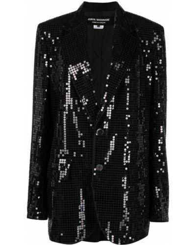 Черный классический пиджак с пайетками на пуговицах Junya Watanabe