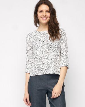 Повседневная прямая блузка с рукавом 3/4 с круглым вырезом Fiato