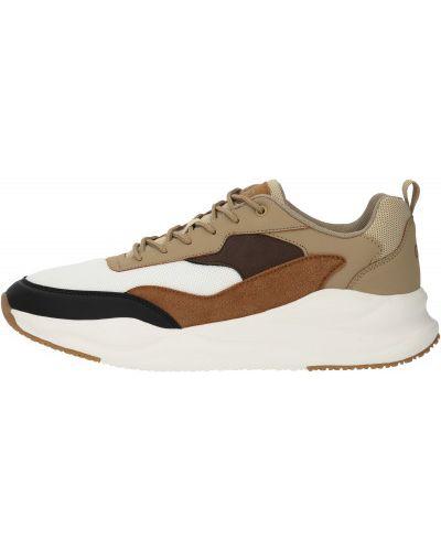 Коричневые кожаные кроссовки на шнуровке Gsd