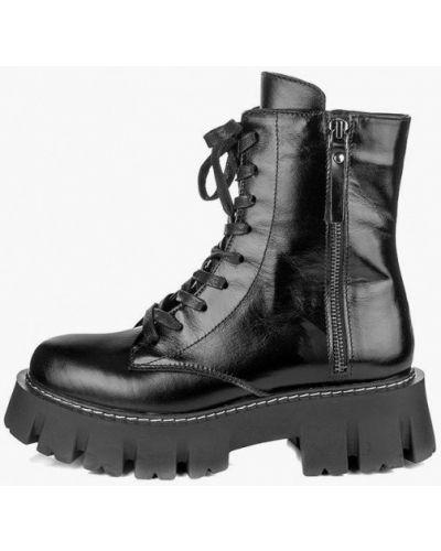 Кожаные черные ботинки Pandora
