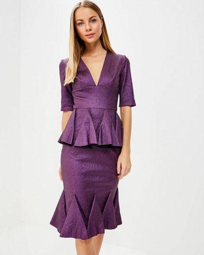 Юбочный костюм фиолетовый Galina Vasilyeva