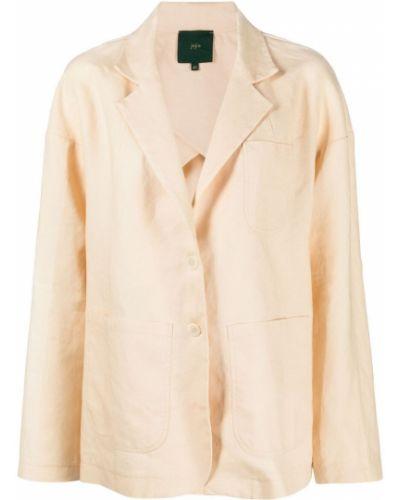 Удлиненный пиджак с карманами на пуговицах с лацканами Jejia