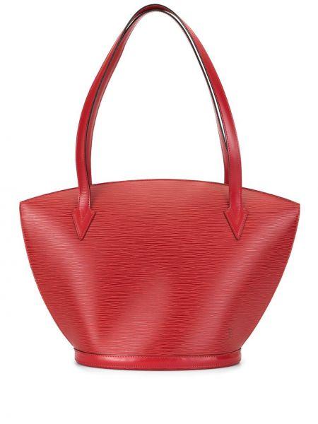 Сумка шоппер с ручками красная Louis Vuitton