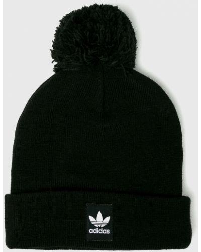 Зимняя шапка облегающий с помпоном Adidas Originals