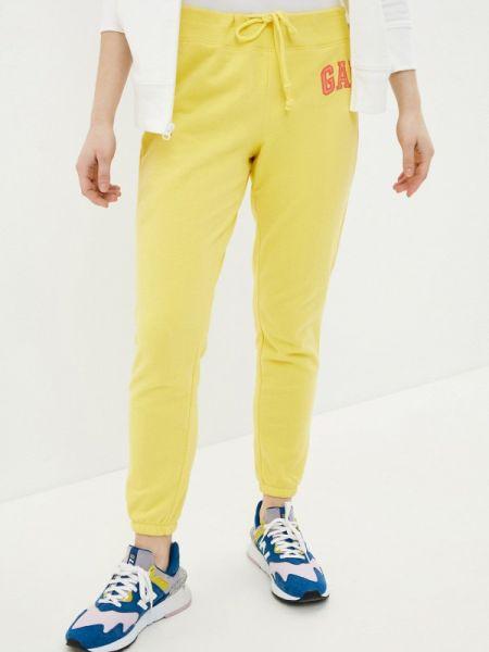 Спортивные брюки весенний желтый Gap
