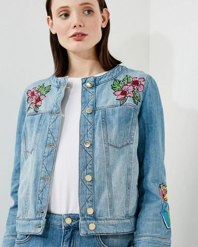 Джинсовая куртка весенняя Love Moschino