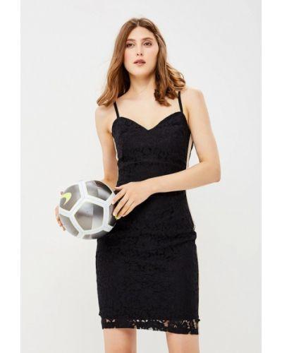 Черное коктейльное платье Rinascimento