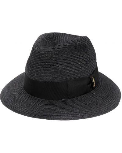 Черные шляпа-федора с вышивкой Borsalino