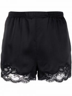Черные кружевные шорты Paco Rabanne