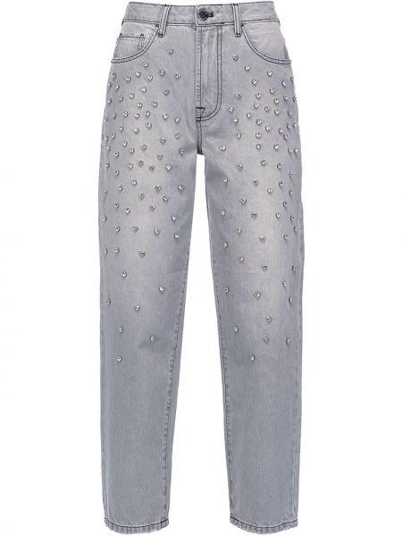 Серые джинсы с высокой посадкой на молнии Pinko